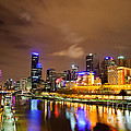 David Hill - Night view of the Yarra...