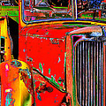 Phyllis Denton - Old Fire Truck Pop Art