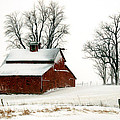 Kimberleigh Ladd - Old Red barn in an...