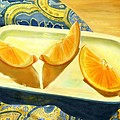 Joan A Hamilton - Oranges on Blue Paisley