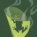 Nathan Marcy - Pacific Tree Frog in...