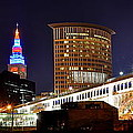 Frozen in Time Fine Art Photography - Panoramic Cleveland Night