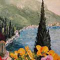 Alan Lakin - Pansies on Lake Como