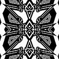 Drinka Mercep - Pattern Black White Art...
