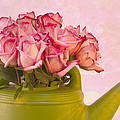 Sandra Foster - Pink Roses In Green...