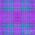 Andee Photography - Plaid In Purple 1 Square