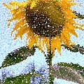 Barbie Corbett-Newmin - Pointillist Sunflower in...