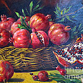 Persian Art - Pomegranate Fruit In...