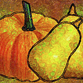 Zeana Romanovna - Pumpkin Art Abstract...