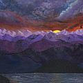 Sandy Jasper - Purple mountain sunset