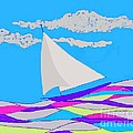 Fred Jinkins - Purple Sailboat