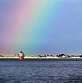 Janice Drew - Rainbow over Bug Light