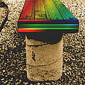 ImagesAsArt Photos And Graphics - Rainbow Park Bench