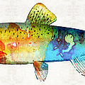 Sharon Cummings - Rainbow Trout Art by...