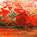 Sharon Cummings - Red Abstract Art - Lava...