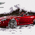 Serge Averbukh - Red Aston Martin V8...
