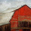 Theresa Tahara - Red Barn And First Snow