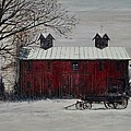 Shirl Theis - Red Barn in Winter