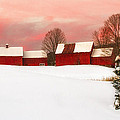 John Vose - Red Barn Sunset