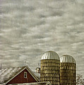 Birgit Tyrrell - Red Barn with Two Silos