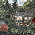 Tami Elise - Rose Stone Cottage - oil...