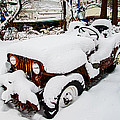 Brian Wallace - Rusty Jeep In Snow