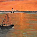 Ken Figurski - Sailboat sunset
