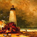 Lianne Schneider - Sandy Hook Lighthouse -...