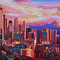 M Bleichner - Seattle Skyline with...