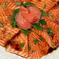 James Temple - Sesame Salmon Sashimi