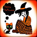 Eva Thomas - Sitting Halloween Witch
