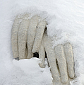 Matthias Hauser - Snow covered hands of a...