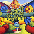 Alan Kenny - Softvase with flowers in...