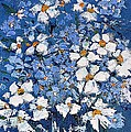 AmaS Art - Spring flowers in white...