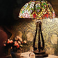 Susan Savad - Stained Glass Lamp and...
