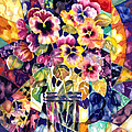 Ann  Nicholson - Stained Glass Pansies