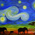 Catherine Howley - Starry Night Over Africa