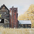 Jan Dappen - Summer - Barn - Red Silo
