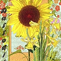 Liane Wright - Sunflower and Daffodils
