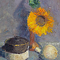 Elizabeth B Tucker  - Sunflower and Gourd
