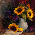 Karen Whitworth - Sunflowers and Porcelain...