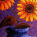 Annie Zeno - Sunflowers in Ceramic...