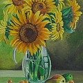 Nina Mitkova - Sunflowers in glass jug