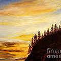 Lee Piper - Sunset at Bass Harbor