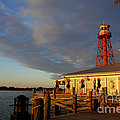 Linda De La Rosa - Sunset at lighthouse in...