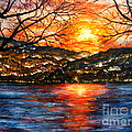 Vivian Cook - Sunset on Greers Ferry...