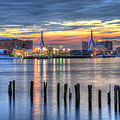 Joann Vitali - Sunset over Zakim Bridge...