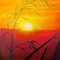Zulfiya Stromberg - Sunset through the grass