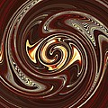 Sarah Loft - Swirl Design on Brown