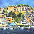 Carol Wisniewski - Symi Harbor The Grecian...